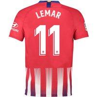 Atlético de Madrid Home Stadium Shirt 2018-19 with Lemar 11 printing