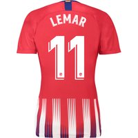 Atlético de Madrid Home Stadium Shirt 2018-19 - Womens with Lemar 11 printing
