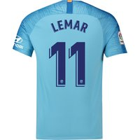 Atlético de Madrid Away Stadium Shirt 2018-19 with Lemar 11 printing