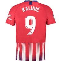 Atlético de Madrid Home Stadium Shirt 2018-19 with Kalinic 9 printing