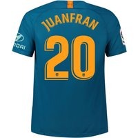 Atlético de Madrid Third Stadium Shirt 2018-19 with Juanfran 20 printing