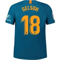 Atlético de Madrid Third Stadium Shirt 2018-19 with Gelson 18 printing