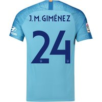 Atlético de Madrid Away Cup Stadium Shirt 2018-19 with J.M. Giménez 24 printing