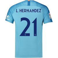 Atlético de Madrid Away Cup Stadium Shirt 2018-19 with L. Hernandez 21 printing