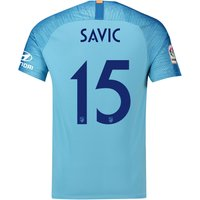 Atlético de Madrid Away Cup Stadium Shirt 2018-19 with Savic 15 printing