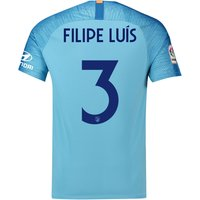Atlético de Madrid Away Cup Stadium Shirt 2018-19 with Filipe Luis 3 printing