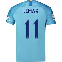 Atlético de Madrid Away Cup Stadium Shirt 2018-19 with Lemar 11 printing