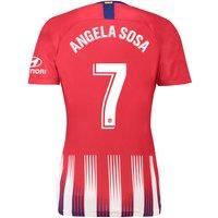 Atlético de Madrid Home Stadium Shirt 2018-19 - Womens with Angela Sosa 7 printing