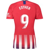 Atlético de Madrid Home Stadium Shirt 2018-19 - Womens with Esther 9 printing