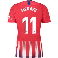 Atlético de Madrid Home Stadium Shirt 2018-19 - Womens with Menayo 11 printing