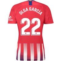 Atlético de Madrid Home Stadium Shirt 2018-19 - Womens with Olga García 22 printing