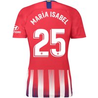 Atlético de Madrid Home Stadium Shirt 2018-19 - Womens with María Isabel 25 printing