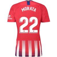 Atlético de Madrid Home Stadium Shirt 2018-19 - Womens with Morata 22 printing
