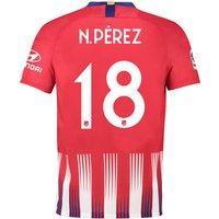 Atlético de Madrid Home Cup Stadium Shirt 2018-19 with N. Pérez 18 printing
