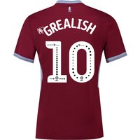 Aston Villa Home Shirt 2018-19 with Grealish 10 printing