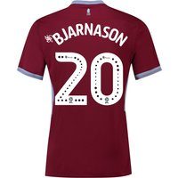 Aston Villa Home Shirt 2018-19 with Bjarnason 20 printing