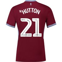 Aston Villa Home Shirt 2018-19 with Hutton 21 printing