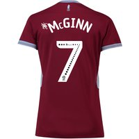 Aston Villa Home Shirt 2018-19 - Womens with McGinn 7 printing