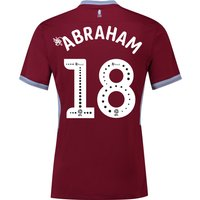Aston Villa Home Shirt 2018-19 with Abraham 18 printing