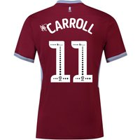 Aston Villa Home Shirt 2018-19 with Carroll 11 printing
