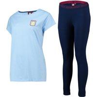 Aston Villa Oversized T and Legging Lounge Set - Sky/ Navy- Womens