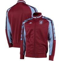 Aston Villa Kappa Fleece Track Jacket - Claret - Mens