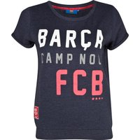 Barcelona Roll Up Fleece Top Heather Navy Womens Navy