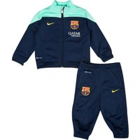 Barcelona Squad Sideline Knit Warm Up Tracksuit - Infants Navy