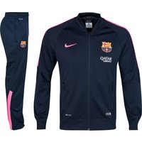 Barcelona Squad Sideline Knit Warm Up Tracksuit Navy