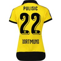 BVB Home Shirt 2015/16 - Womens with Sponsor Yellow with Pulisic 22 printing