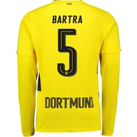 BVB Home Shirt 2017-18 - Long Sleeve with Bartra 5 printing