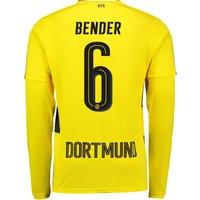 BVB Home Shirt 2017-18 - Long Sleeve with Bender 6 printing