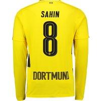 BVB Home Shirt 2017-18 - Long Sleeve with Sahin 8 printing