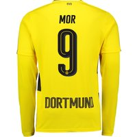 BVB Home Shirt 2017-18 - Long Sleeve with Mor 9 printing