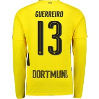 BVB Home Shirt 2017-18 - Long Sleeve with Guerreiro 13 printing
