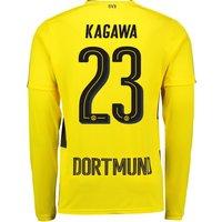 BVB Home Shirt 2017-18 - Long Sleeve with Kagawa 23 printing