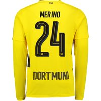 BVB Home Shirt 2017-18 - Long Sleeve with Merino 24 printing
