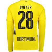 BVB Home Shirt 2017-18 - Long Sleeve with Ginter 28 printing