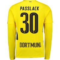 BVB Home Shirt 2017-18 - Long Sleeve with Passlack 30 printing