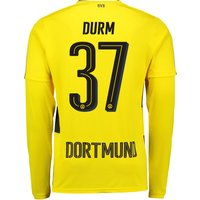 BVB Home Shirt 2017-18 - Long Sleeve with Durm 37 printing