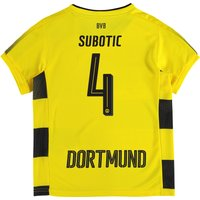 BVB Home Shirt 2017-18 - Kids with Subotic 4 printing