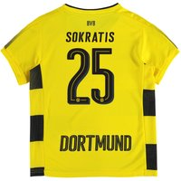 BVB Home Shirt 2017-18 - Kids with Sokratis 25 printing