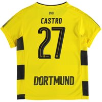 BVB Home Shirt 2017-18 - Kids with Castro 27 printing
