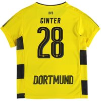 BVB Home Shirt 2017-18 - Kids with Ginter 28 printing
