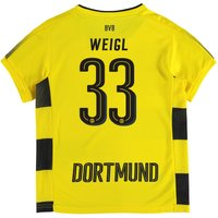 BVB Home Shirt 2017-18 - Kids with Weigl 33 printing
