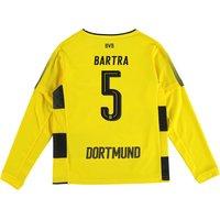 BVB Home Shirt 2017-18 - Kids - Long Sleeve with Bartra 5 printing