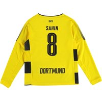 BVB Home Shirt 2017-18 - Kids - Long Sleeve with Sahin 8 printing