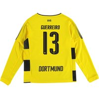 BVB Home Shirt 2017-18 - Kids - Long Sleeve with Guerreiro 13 printing