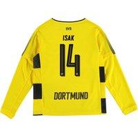 BVB Home Shirt 2017-18 - Kids - Long Sleeve with Isak 14 printing