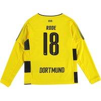BVB Home Shirt 2017-18 - Kids - Long Sleeve with Rode 18 printing